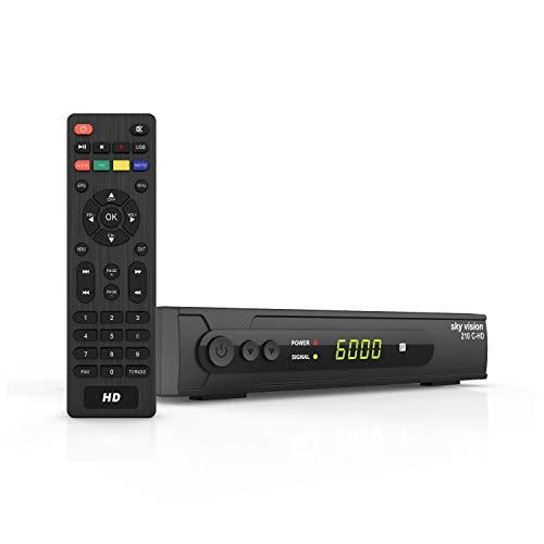 sky vision DVB C Kabel Receiver 210 C-HD - HD Receiver für Kabel TV, DVB C Receiver für HDTV, Digital Receiver für Kabel, HDTV Receiver Kabel für Full HD TV und Radio