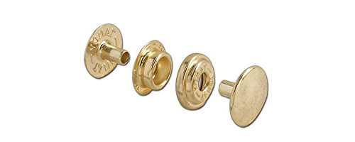 Tandy Leather Line 24 Snaps Brass Plate 10/pk 1263-01