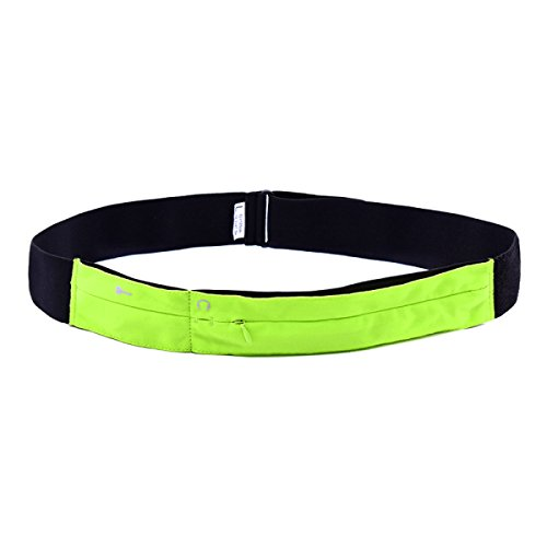 LYFLYF Multi-Fonctionnel Extérieur Sports étirement écouter De La Musique Courir Mince Lyca Sports Courir Waist Packs Sac,Green-L