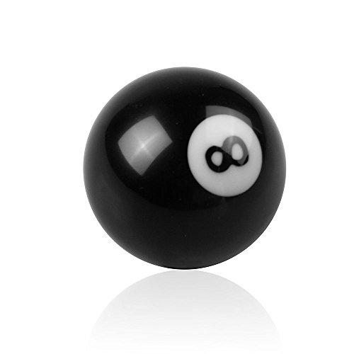 RYANSTAR Shift Knob Black 8 Ball Billiard Acrylic Gear Shift Lever Shift Knob Black Shaped Round Manual with 3 Adapters Universal Fit for Manual Car M 81.25, M 101.25, M 101.5, M 121.25