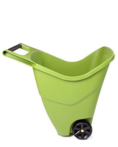 Ondis24 Gartenschubkarre 85 L Trolley mit Griff Zweirad Kunststoff Outdoor (Grün)