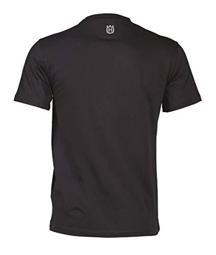 Husqvarna Short Sleeve Unisex T-Shirt, Black, X-Large