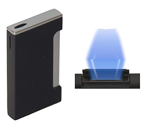 Lifestyle-Ambiente Hadson Feuerzeug Lucca Black Flat Flame inkl Tastingbogen