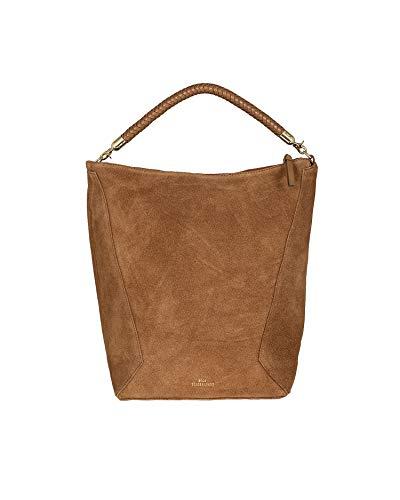 Becksöndergaard Suede Everly Bag Brownie/Marrón - Bolso de mano para mujer (ante y correa desmontable, 26 x 35 x 16 cm), color marrón