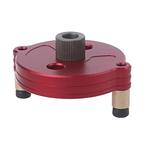 Wenyounge Herramienta Material de aleación de Aluminio Ahorro de Carpintería Posicionamiento y perforación precisos Ubicación de perforación Tres en