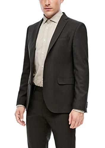 s.Oliver BLACK LABEL Herren 160.11.899.15.153.1229365 Business-Anzug Jacke, Schwarz, 46