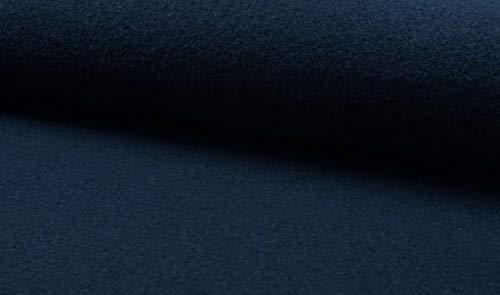 Qualitativ hochwertiger Wollstoff, gekochte Wolle, Wollwalk als Meterware zum Nähen von Erwachsenen und Kinder Kleidung - Petrol, 50 cm