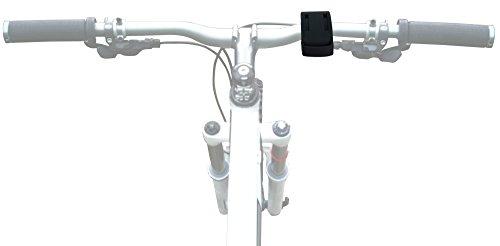 DURAGADGET Support vélo/kit de Fixation Noir pour Montre Cardio/GPS Multisport Polar M400 HR / A300 HR Tracker d'activité - à Fixer sur Le Guidon + Colliers rilsan de Serrage Inclus