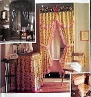Simplicity Home Decorating Pattern 9595 Shower Curtain, Sink Skirt, Covers for Toilet Seat, Tank, Hamper, Waste Basket and Tissue Box