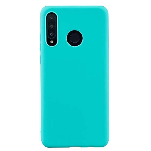 Capa para Huawei P30 Lite, YINCANG ultrafina fosca flexível TPU silicone gel borracha à prova de choque capa macia para Huawei P30 Lite/Nova 4e 6,1 polegadas azul claro
