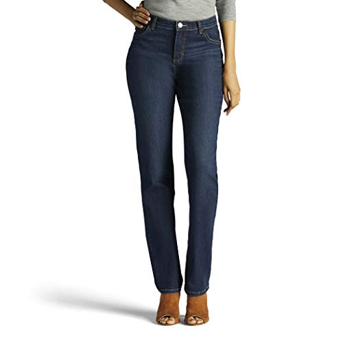 LEE Women's Tall Instantly Slims Classic Relaxed Fit Monroe Straight Leg Jean, Ellis, 16 Tall