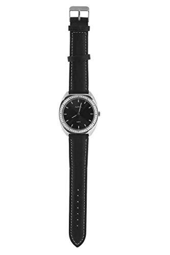 Auriol® Herren Armbanduhr - Lederarmband, Edelstahlgehäuse, Wasserdicht