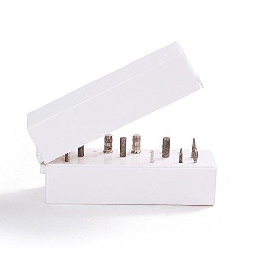 TOOGOO porte-forets a ongles, support anti-poussiere, displayer, organisateur, conteneur, outils de manucure 30 trous, boitier de couverture acrylique, outils de manucure