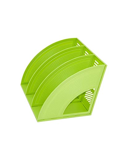 Archief-tijdschriftenverzamelaar voor bureau-mappen, kunststof, kantoorbenodigdheden, opslag, blauw/rood/groen