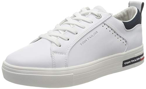 TOM TAILOR Damen 1194501 Sneaker, White, 39 EU