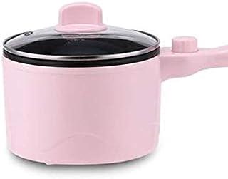 Zcm Dormitorio estudiantil Olla Cocina eléctrica Multifuncional Hotpot Mini Antiadherente Alimentos de Fideos de cocción sartén Huevo al Vapor Sopa Calentador Pot sartén (Color : Pink)