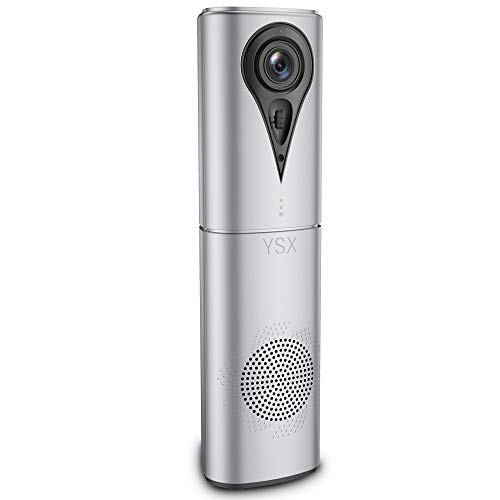 YSX Conference Room Camera - Conference Call Speaker, 1080p Video Conference Camera with Speaker, USB Plug and Play, Webcam with Microphone for Zoom Skype… (Version I)