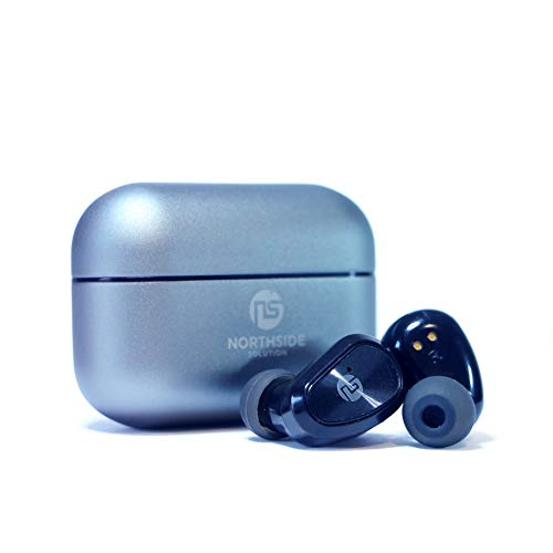 NS Series 10 Earbuds True 5.0 Bluetooth in-Ear Headphones with Charging Case |6H Playtime Wireless Earbuds | IPX7 Waterproof | CVC Noise Canceling Headphones| Easy Pairing (Black)