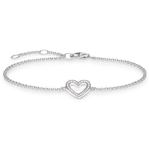 THOMAS SABO Damen-Armband 925 Silber Zirkonia weiß Brillantschliff 19.5 cm - SCA150153