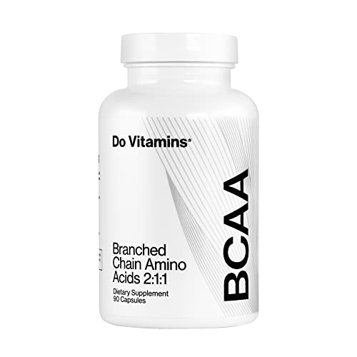 Do Vitamins Branched Chain Amino Acids Capsules, Vegan AjiPure BCAA for Men and Women, 2100 mg, 90 Count