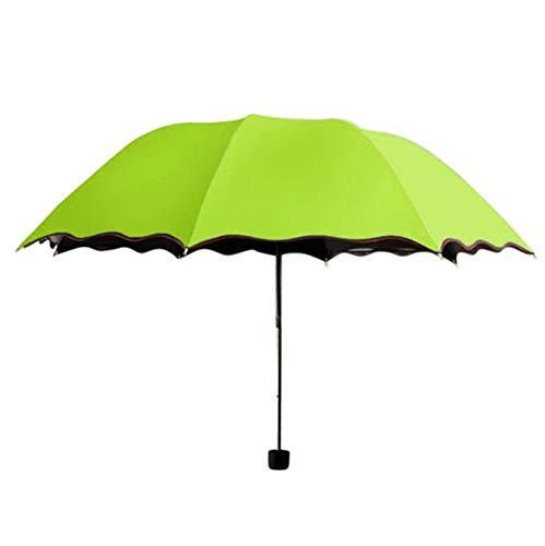 Las Sombrillas Plegables Plegables A Prueba De Lluvia Son Resistentes Al Sol/paraguas Uv Resistentes Al Viento 25cm Verde