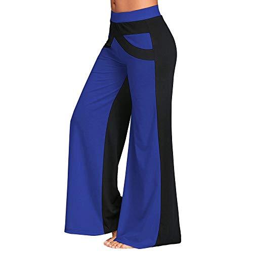 URIBAKY Patchwork Bell Bottoms - Pantalón de Yoga con Pierna Grande Azul 38 ES/XL