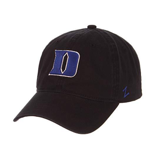 Zephyr Duke Black Custom Scholarship Adjustable Adult Men's Women's Youth Baseball Hat/Cap