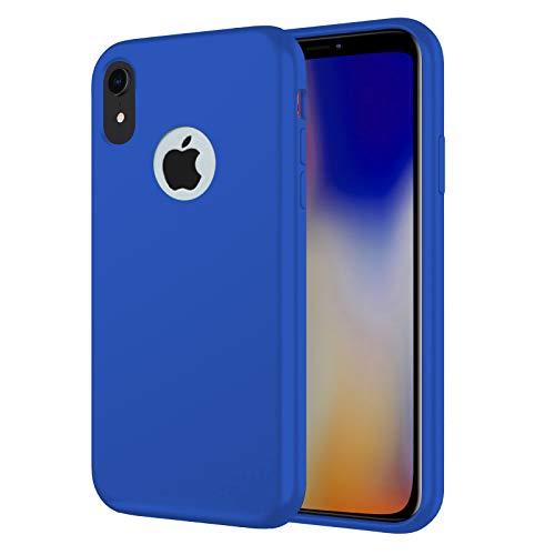 TBOC Cover per Apple iPhone XR [6.1']- Custodia Rigida [Blu Elettrico] Silicone Liquido Premium [Sensazione Morbida] Fodera Interna Microfibra [Protegge Fotocamera] Resistente Sporco Graffi