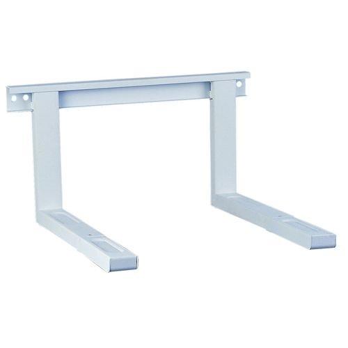 Weiß Universal Wandhalterung für Mikrowelle + Grillofen Ausziehbar belastbar bis 35 kg inkl. Dübel und Schrauben für die Wandmontage