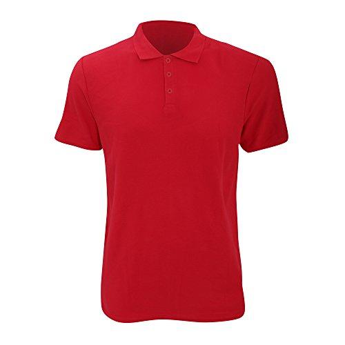 Anvil Herren Fashion Polo-Shirt, Kurzarm (Large) (Rot)