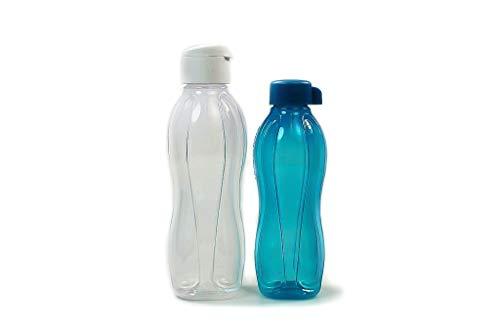 Tupperware to Go Eco - Tapa de clip (1,0 L, incluye botella de 750 ml), color blanco
