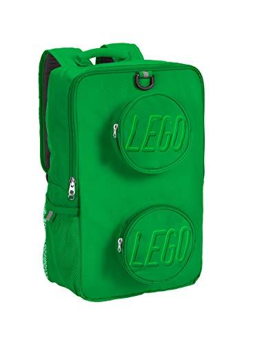 LEGO Unisex-Child Brick Backpack, Green, One Size