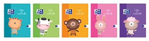 Oxford 100101937 - Pack de 20 libretas especiales, colores surtidos