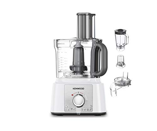 Kenwood FDP65.860WH food processor with 9 attachments. Expresss Serve and Dice, 1.5L Jug blender and mini chopper