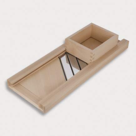 HOFMEISTER® Profi-Krauthobel mit Edelstahl-Klingen, 80 cm, sicheres Schneiden von Weißkraut & Rotkraut Dank beweglichem Schlitten, Gemüsehobel aus Buchen-Holz, Made in EU