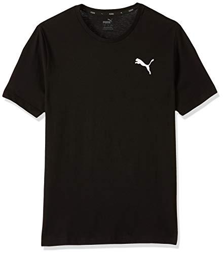 PUMA Herren ESS S Logo Tee T-Shirt, Schwarz (Cotton Black-_Cat), XL