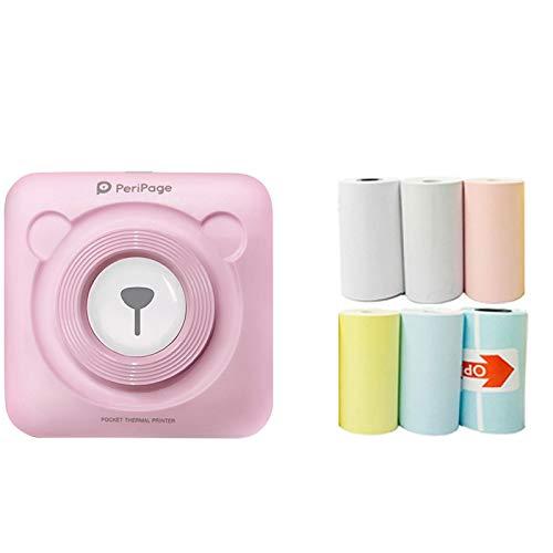 STRIR PeriPage Mini Bluetooth Imprimante Photo Portable, Imprimante Thermique sans Fil BT, Câble USB, Photo Instantanée Image Etiquette Mémo Reçus pour Smartphone Android iOS Windows