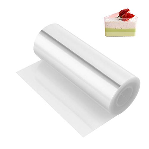 Kasmoire Cake Collars 4x 394inch, Mousse Cake Acetate Sheets for Cake Decorating, Chocolate Mousse Baking