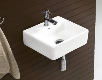 Zoyo Cera cathy Wash Basin, White, Glossy Finish