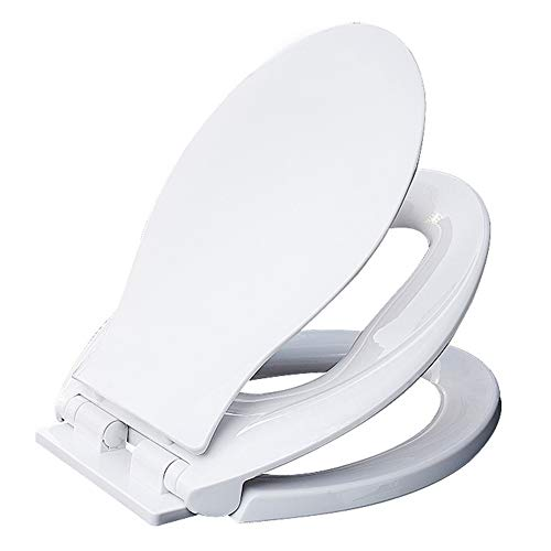 siège de toilette Couvercle de Toilette Universel épaissi en Forme de V, Blanc idéal 2-en-1, Convient aux Enfants en Bas âge et aux Adultes, Une Solution permettant,Un Entrainement au Petit Pot