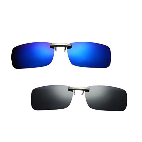 harayaa Clip de Pesca Polarizado Unisex de 2 Piezas en Gafas de Sol