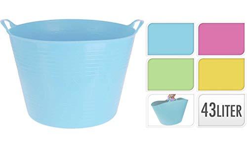42lt Flexi flexibler Kunststoff Wanne Tubs Eimer für den Garten Building Wäschekorb hellblau