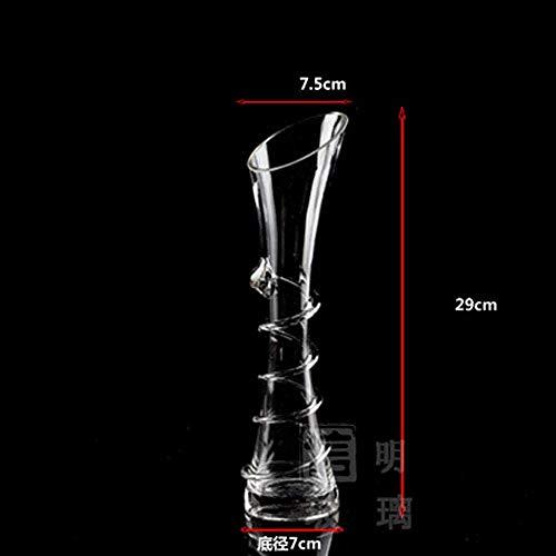 Simplicidad Del Hogar Decoración Del Hogar Florero Hidropónico de Vidrio Transparente Mesa de Comedor de Moda Moderna Mesa de Oficina Florero Pequeño30Cm, lsxysp