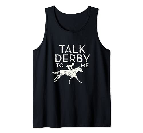 Fun Talk Derby to me Horse Owner Lover Jockey Camiseta sin Mangas