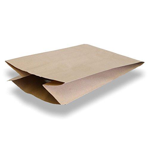 500x Papier-Kompostbeutel, Biomüllbeutel, Braun, nassfest, 20 + 16 x 36 cm