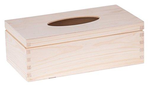 Amazinggirl Taschentuchbox Kosmetiktücher Box - Taschentuchspender Tissue Box Kosmetiktuchspender aus Holz Holzkasten zum Bemalen Decoupage