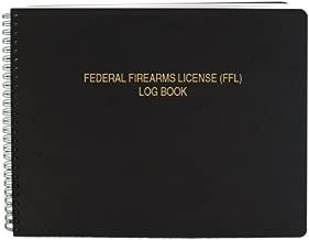 BookFactory FFL Bound Book/FFL Log Book/FFL Record Book - 100 Pages, Black-TransLux Cover - Wire-O, 11