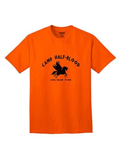 TOOLOUD Camp Half Blood Adult Mens Half-Blood T-Shirt - Orange - Large