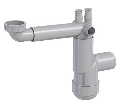 PREVEX Flexloc Universal-Siphon, platzsparend, 1 Becken für Küchenspüle