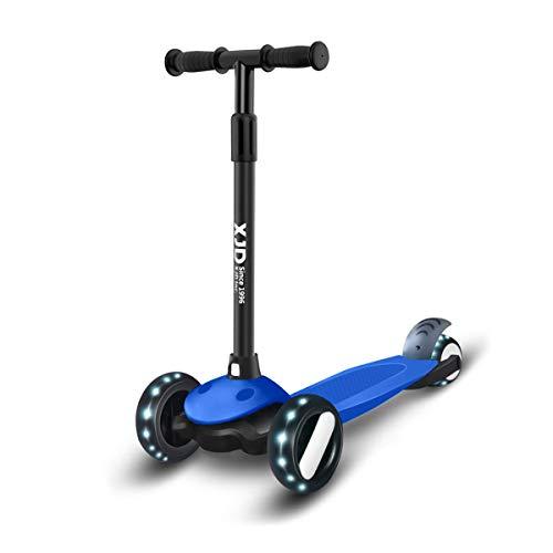 XJD Kinderscooter Kinderroller mit 3 LED Rädern Kickboard für Mädchen Junge 2 Jahre Sperrbare Richtung Verstellbare Lenkerhöhe Leicht Belastbarkeit bis 50 kg